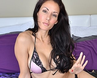 Hot and steamy Canadian Mom playing alone