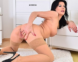 Hot steamy British mom playing with herself