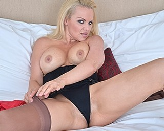 Hot mom playing with herself