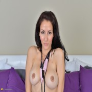 Super hot mom stripping and teasing