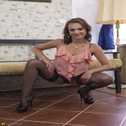 Naughty Mom playing all alone